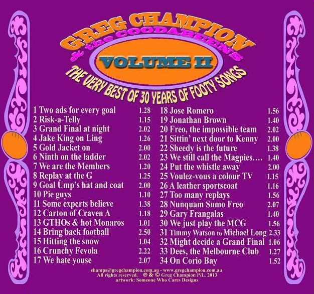 Greg Champion and the Coodabeens Vol II - 30 Years of Footy Songs